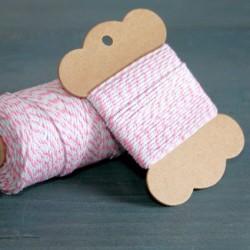 Baker twine rose princes  10 mètre light pink ficelle d'emballage