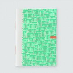 "Picote ""vert fluo""cahier dahu édition serigraphie shocking green"