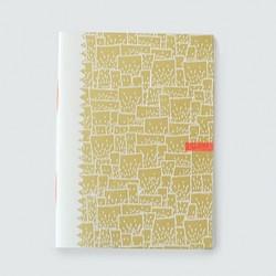 "Picote ""cube or""cahier dahu édition serigraphie gold"