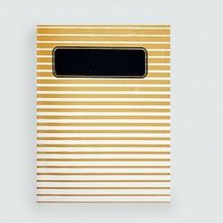"""L'écolier """"rayé or""""cahier dahu édition serigraphie gold"""
