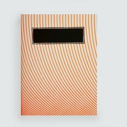 """L'écolier """"ondes orange fluo""""cahier dahu édition serigraphie yellow"""