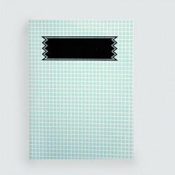 """L'écolier """"petits carreaux bleus""""cahier dahu édition serigraphie bleu"""