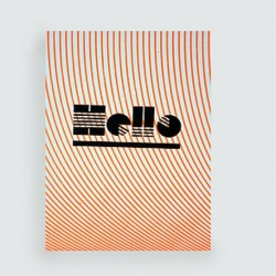 """LES PETITS MOTS """"Hello"""" carte dahu édition serigraphie orange noir"""