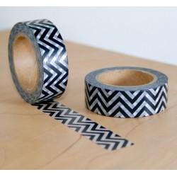 masking tape zigzag noir fond blanc translucide