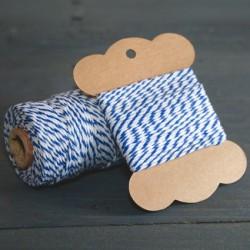 Baker twine bleu roi 10 mètre navi blue ficelle d'emballage