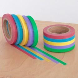masking tape uni slim washi tape vert jaune rouge bleu violet