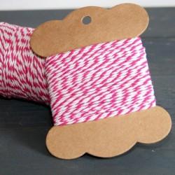 Baker twine framboise 10 mètre raspberry ficelle d'emballage