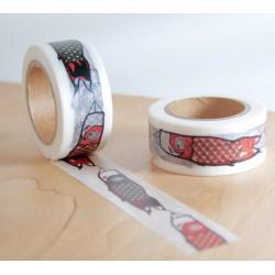 masking tape Manches à air carpe koï koinobori washi tape