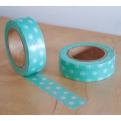 masking tape pois blanc fond blue ciel