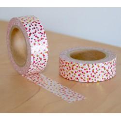 masking tape flocon fuchsia & doré