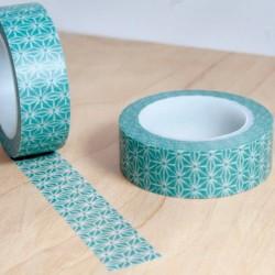masking tape motifs asanoha vert de gris