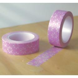 masking tape deijï fond rose washi tape fleur de marguerite