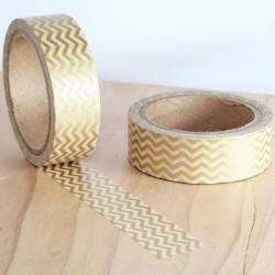Masking tape zigzag doré