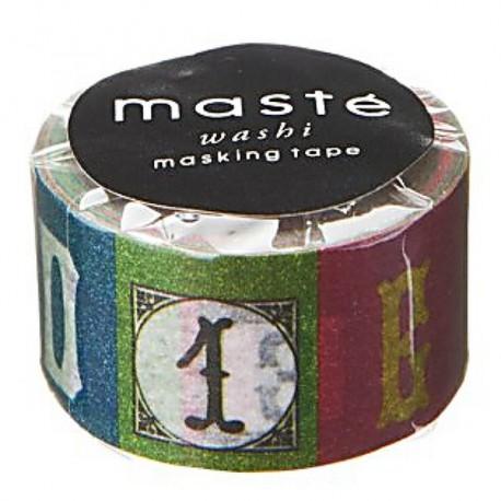 masking tape masté alphabet color washi tape