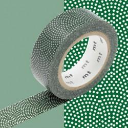 Masking tape à pois rosace vert samekomon