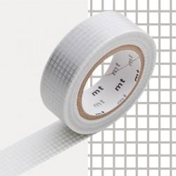 masking tape Motif quadrillé argent
