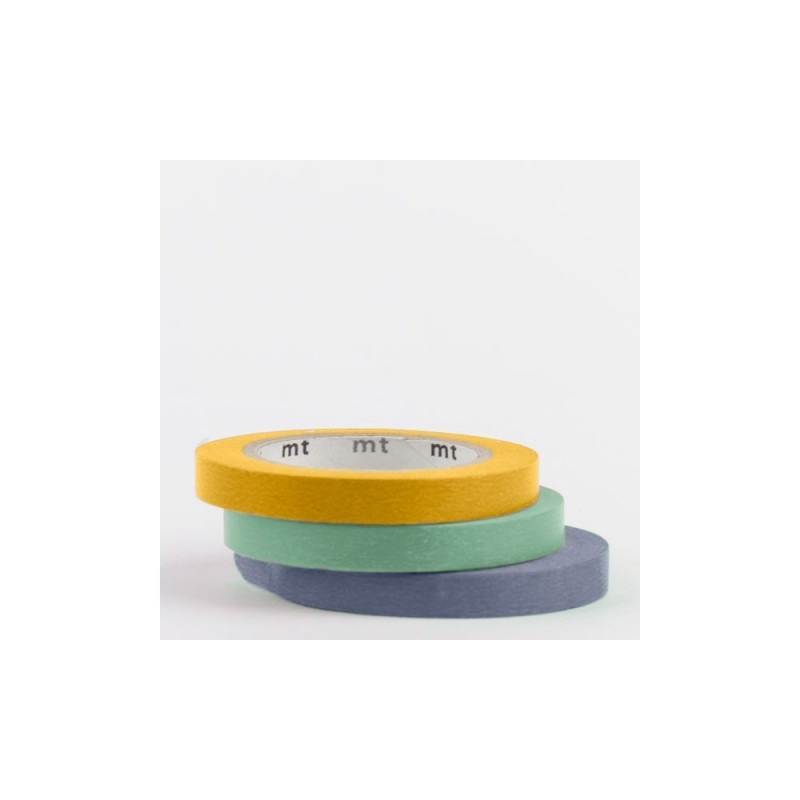 masking tape slim deco uni vert jaune bleu washi tape fin. Black Bedroom Furniture Sets. Home Design Ideas