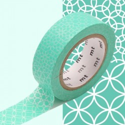 masking tape motif traditionnel lagon washi tape light green