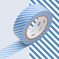 masking tape rayé bleu clair washi tape light blue strip