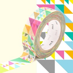 masking tape triangles rose diago washi tape pink