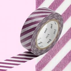 masking tape rayure diagonal violet  washi tape purple diago
