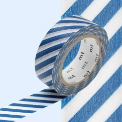 masking tape rayure bleu foncé washi tape navy blue