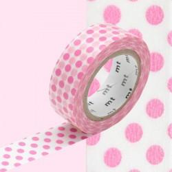 masking tape gros  pois rose WASHI TAPE pink DOT