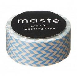 masking tape nostalgic bleu clair chevron washi tape  BLUE CHECKED