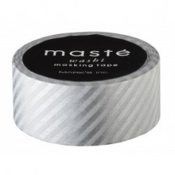 masking tape rayé argent