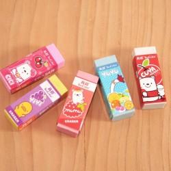 Gommes colors kawaii pochette de 5
