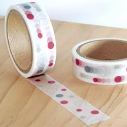 Masking tape poids rouge et gris