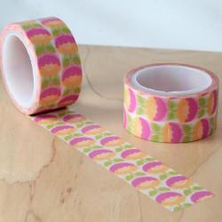 Masking tape flower 70's