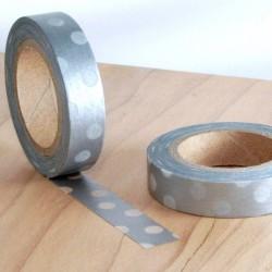 masking tape slim à pois argent