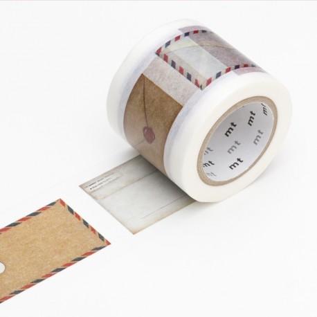 Masking tape large motif envelope washi tape mail