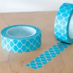 Masking tape carreaux bleu japan