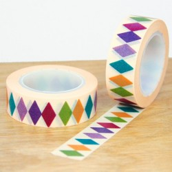 masking tape losanges couleurs foncées
