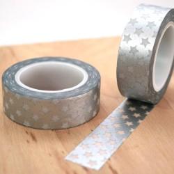 masking tape étoiles argents