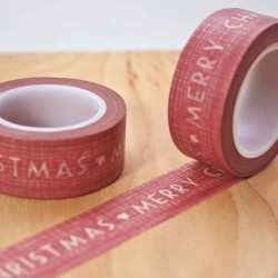 masking tape christmas sketch rouge washi tape trais red