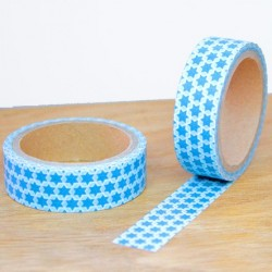 masking tape étoiles bleues