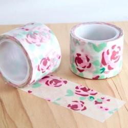 Masking tape roses large