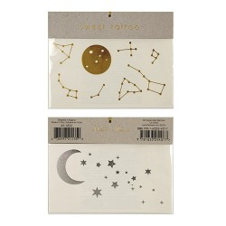 tatouages éphémères lune et constellations tattoo stars moon
