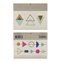 tatouages éphémères bracelets triangles tattoo géométrique