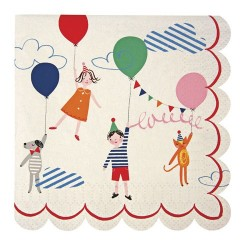 serviettes en papier thème happy birthday