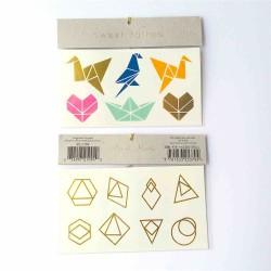 tatouages éphémères origami tattoo géométrique