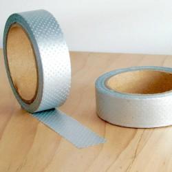 masking tape mini pois argent