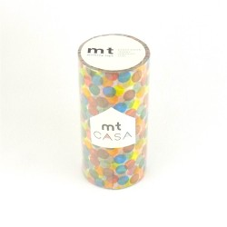 masking tape casa spot yellow 10cm washi tape large gros pois couleurs