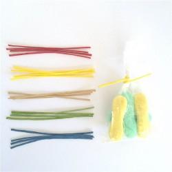 twist ties lien papier kraft de couleur pour fermeture pour sachet