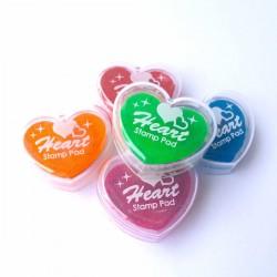 encreur couleur en forme de coeur pout tampon