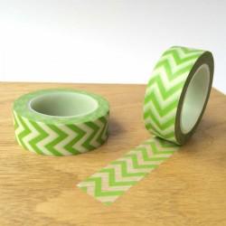 masking tapes chevrons washi tape green strip