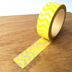masking tape chevrons jaunes
